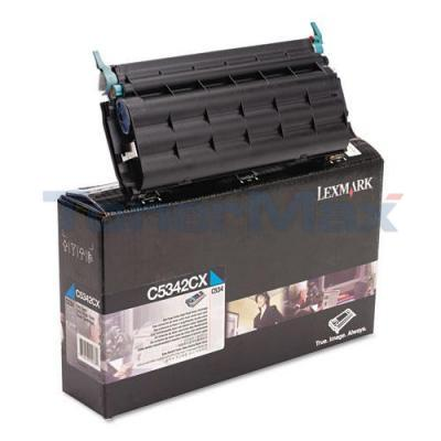 LEXMARK C534 TONER CARTRIDGE CYAN 7K